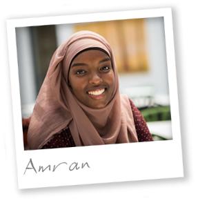 Third year BSc Biology student Amran